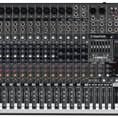 Tout simplement professionnelle                                                                                   Le mélangeur ProFX16 vous offre la meilleure solution pour la sonorisation de groupes de musiciens évoluant dans les salles de taille moyenne