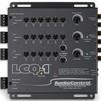 Individual equalization controls for the front