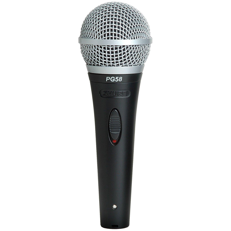 Le microphone SHURE PG58-XLR est un micro chant dynamique et cardioïde fabriqué par SHURE et destiné aux petits budgets